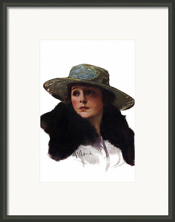 Norma Talmadge 1917 Framed Print By Stefan Kuhn