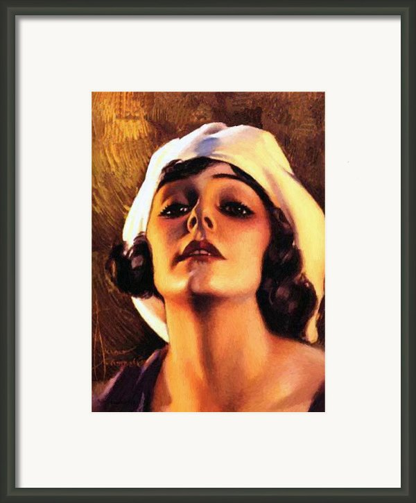 Norma Talmadge 1920 Framed Print By Stefan Kuhn