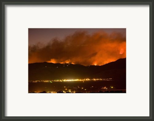 North Boulder Colorado Fire Above In The Hills Framed Print By James Bo Insogna