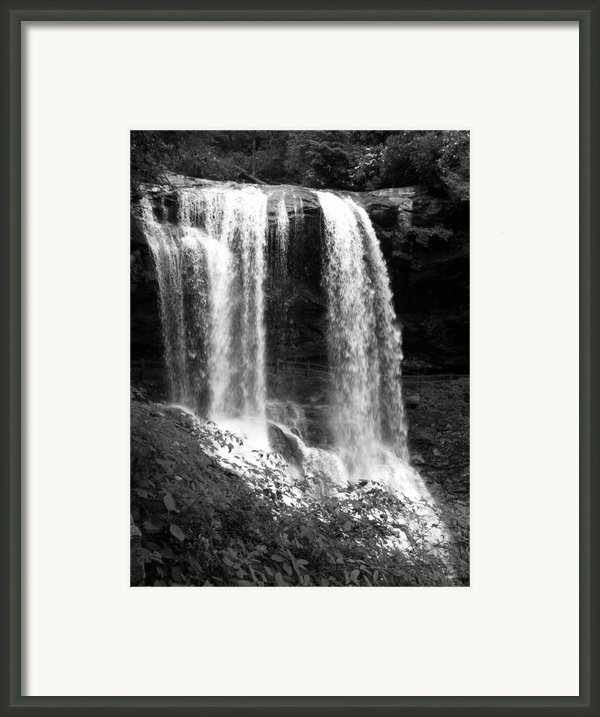 North Carolina Dark Falls Framed Print By Julian Bralley