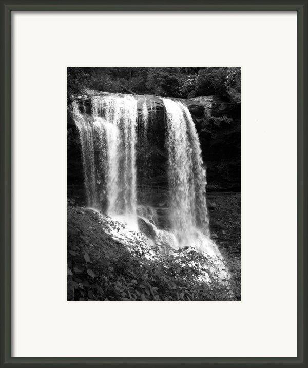 North Carolina Dark Falls Framed Print By Julian Bralley