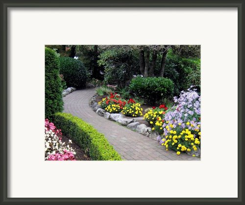 North Vancouver Garden Framed Print By Will Borden