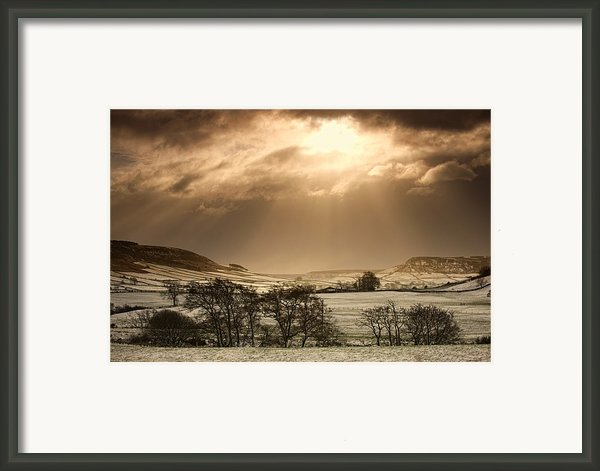 North Yorkshire, England Sun Shining Framed Print By John Short