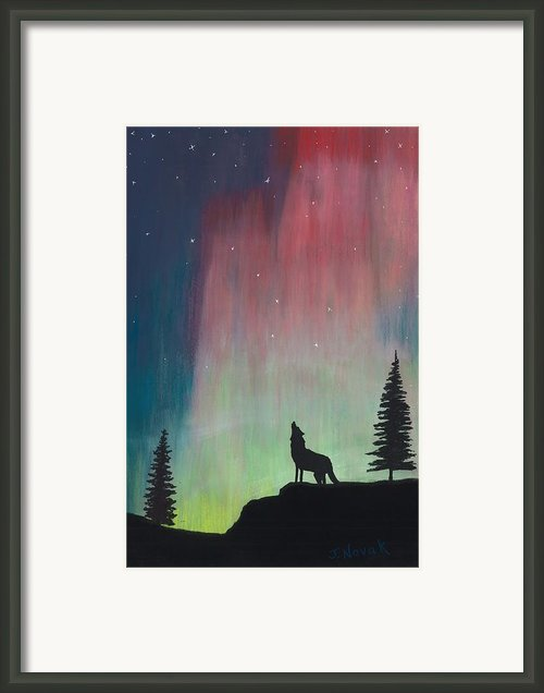 Northern Lights Stardust Framed Print By Jackie Novak