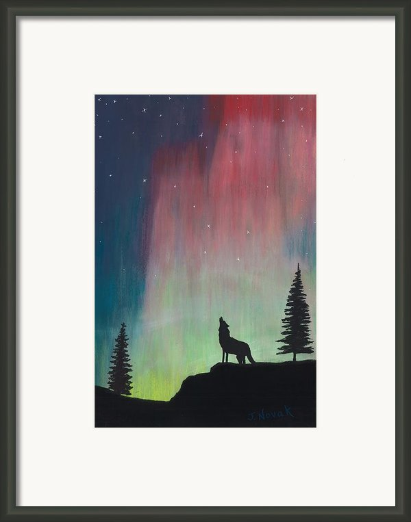Northern Lights Stardust Framed Print By Jackie Novak
