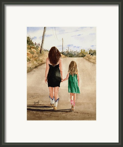 Northwest Oklahoma Sisters Framed Print By Sam Sidders