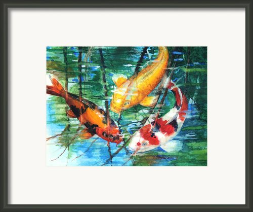 November Koi Framed Print By Patricia Allingham Carlson