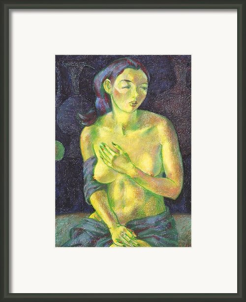 Nu 56 Framed Print By Leonid Petrushin