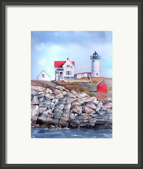 Nubble Lighthouse - Maine Framed Print By Arline Wagner