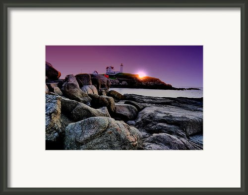 Nubble Rocks Framed Print By Emily Stauring