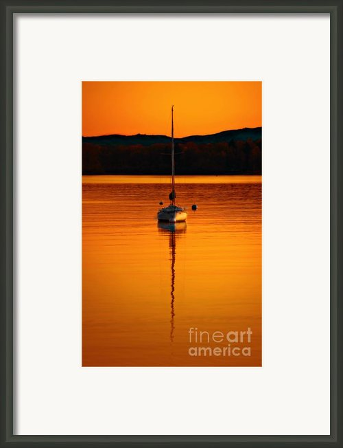 Nuclear Sunset Framed Print By Meirion Matthias
