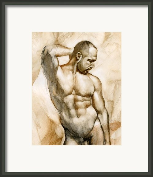 Nude 46 Framed Print By Chris  Lopez