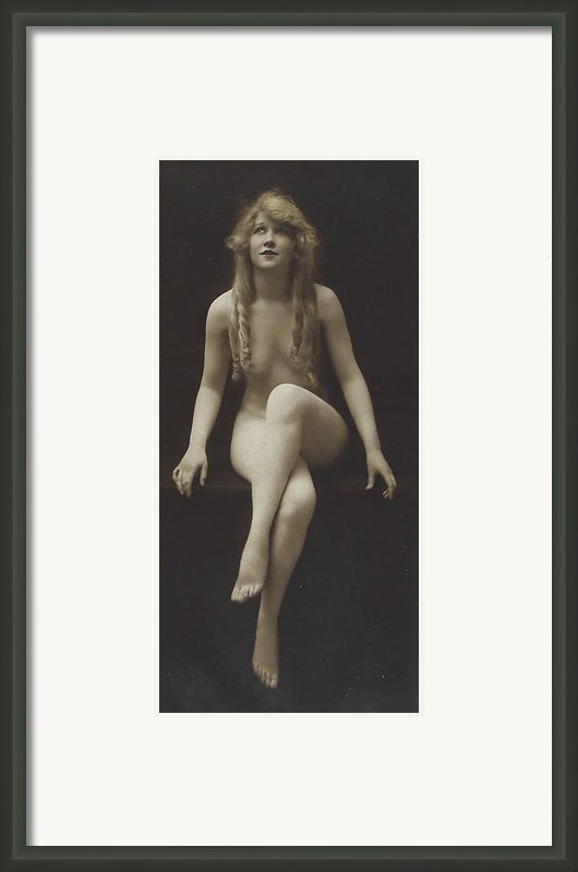 Nude Girl 1915 Framed Print By Stefan Kuhn