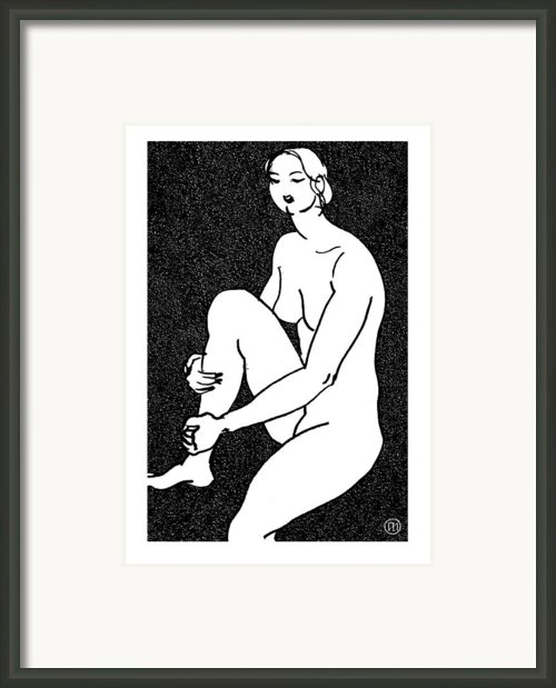 Nude Sketch 16 Framed Print By Leonid Petrushin