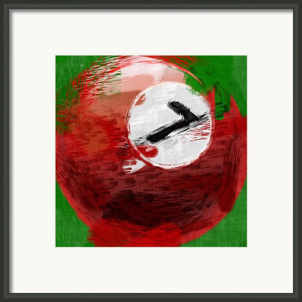 Number Seven Billiards Ball Abstract Framed Print By David G Paul