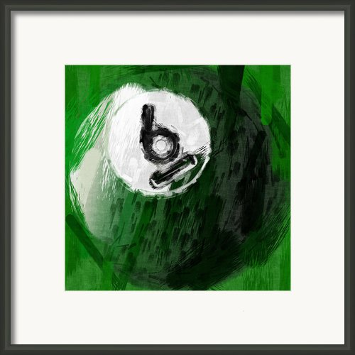 Number Six Billiards Ball Abstract Framed Print By David G Paul