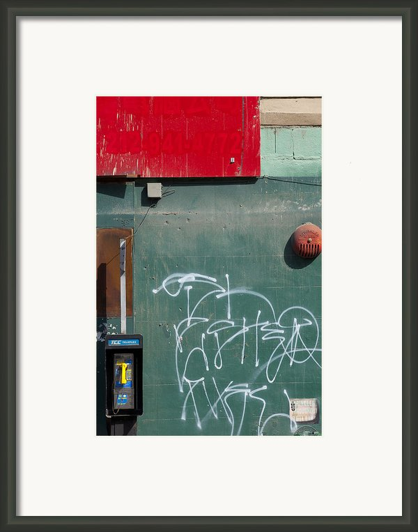 Ny Composition 2 Framed Print By Art Ferrier