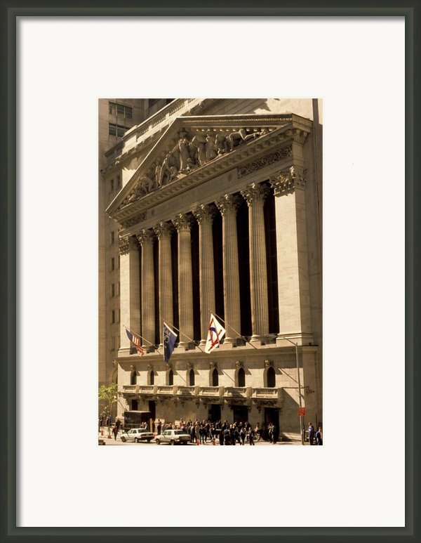 Ny Stock Exchange Framed Print By Gerard Fritz