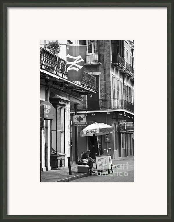 Ny Yankees On Royal Street Framed Print By Leslie Leda