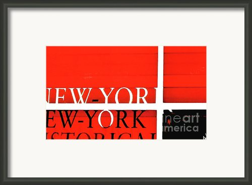 Nyc Abstract In Red And Black Framed Print By Anahi Decanio