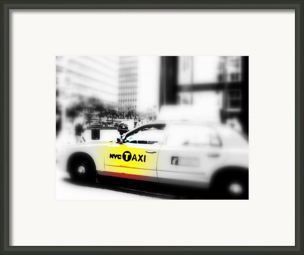 Nyc Cab Framed Print By Funkpix Photo Hunter