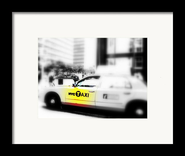 Nyc Cab Framed Print By Funkpix Photo Hunter