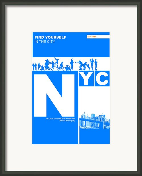 Nyc Find Yourself In The City Framed Print By Irina  March