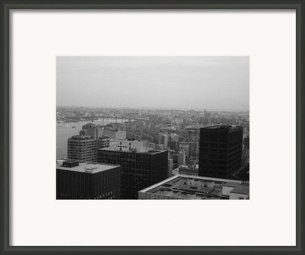 Nyc From The Top 2 Framed Print By Irina  March