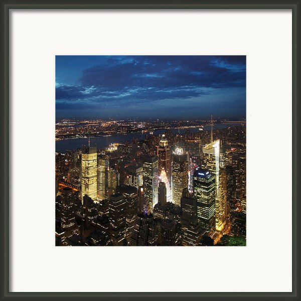 Nyc Night Lights Framed Print By Nina Papiorek