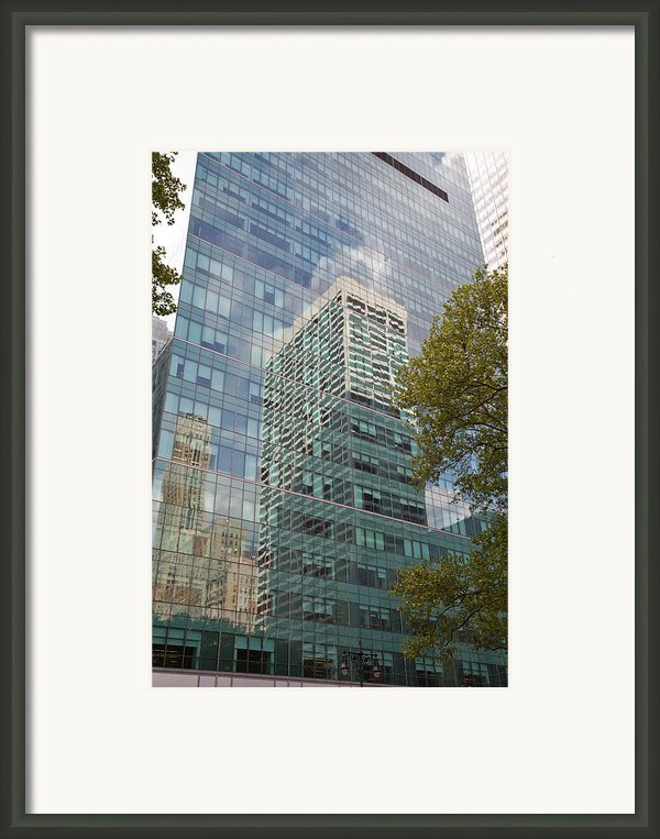 Nyc Reflection 1 Framed Print By Art Ferrier