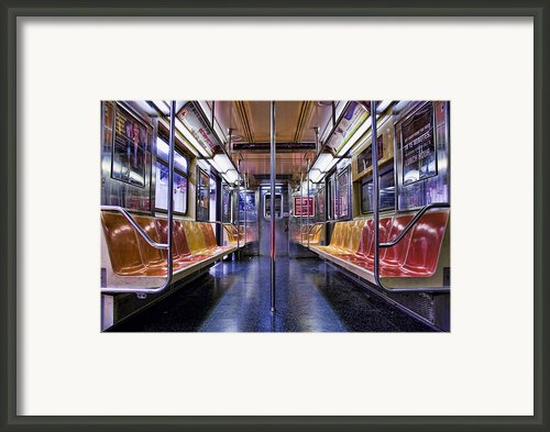 Nyc Subway Framed Print By Kelley King
