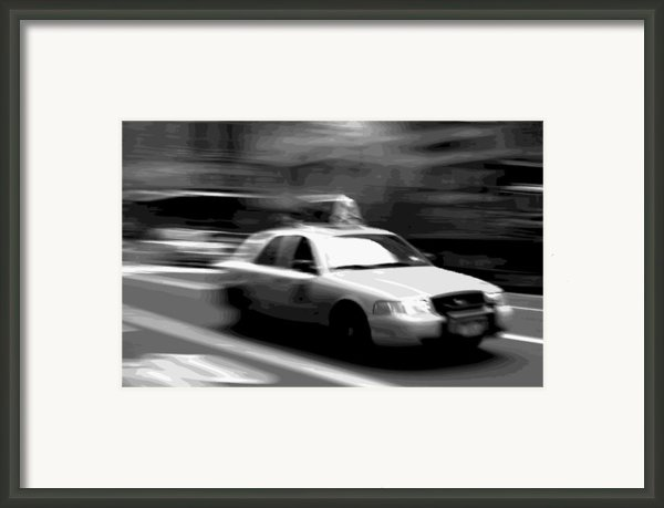 Nyc Taxi Bw16 Framed Print By Scott Kelley