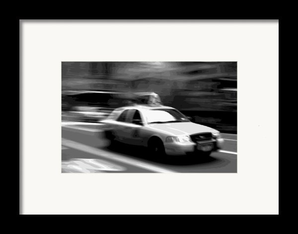 Nyc Taxi Bw16 Framed Print By Scott Kelley