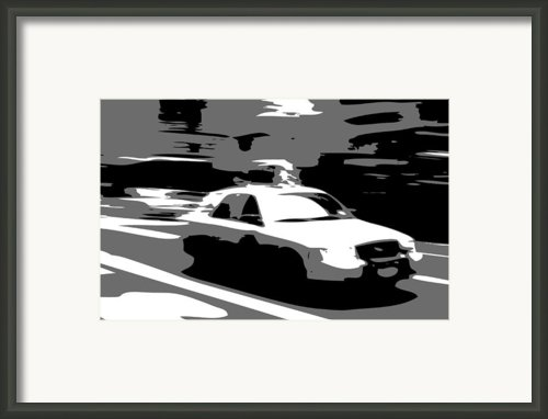 Nyc Taxi Bw3 Framed Print By Scott Kelley