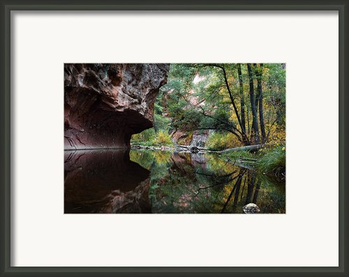 Oak Creek Canyon Reflections Framed Print By Dave Dilli