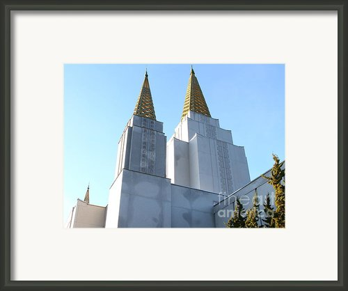 Oakland California Temple . The Church Of Jesus Christ Of Latter-day Saints . 7d11360 Framed Print By Wingsdomain Art And Photography