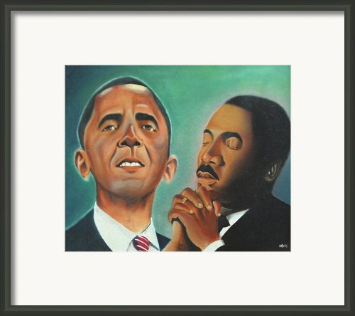 Obama And King Framed Print By Harry Ellis