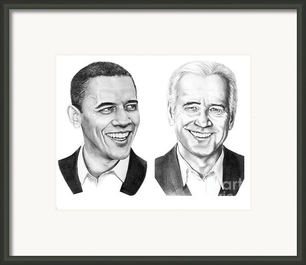 Obama Biden Framed Print By Murphy Elliott