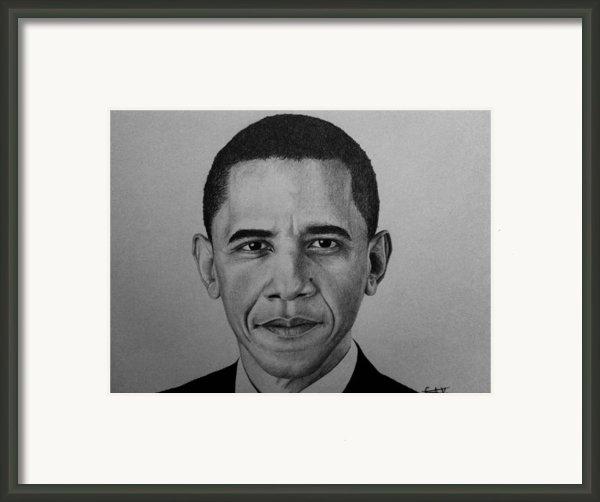 Obama Framed Print By Carlos Velasquez Art