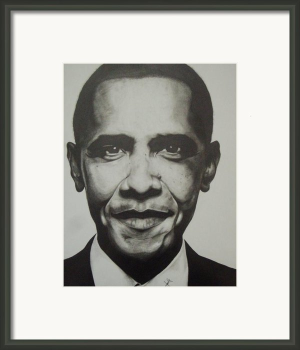Obama Framed Print By Jane Nwagbo