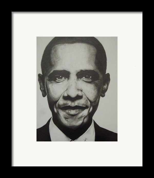 Obama Framed Print By Jane Nwagbo