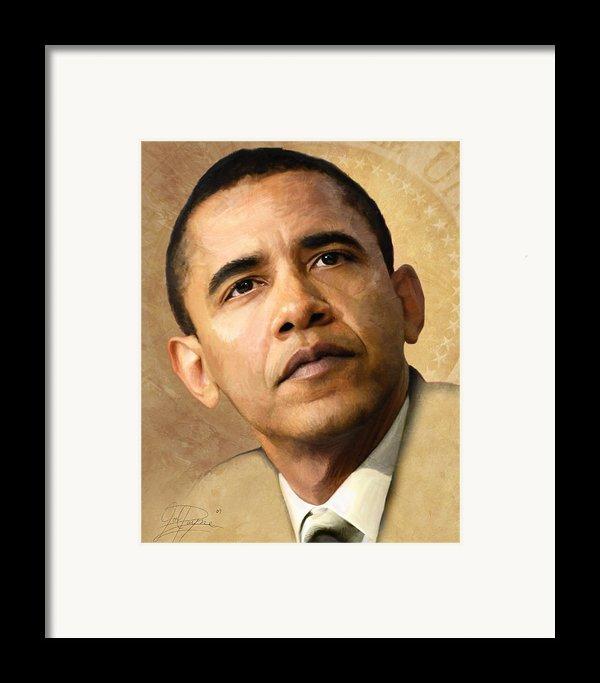 Obama Framed Print By Joel Payne