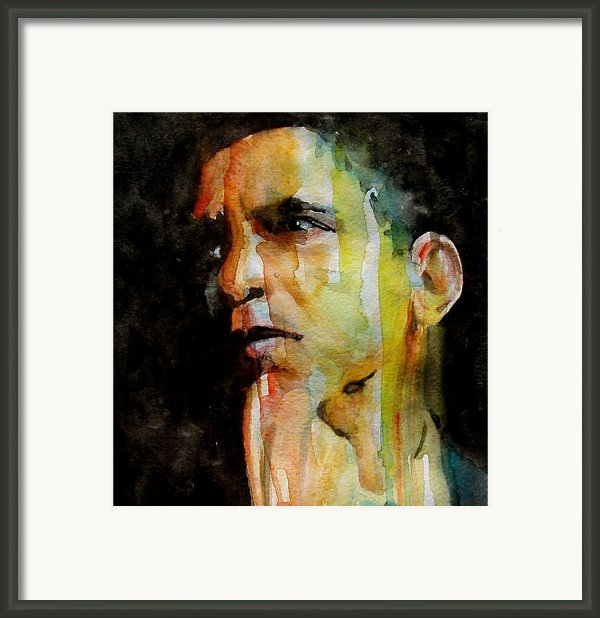 Obama Framed Print By Paul Lovering