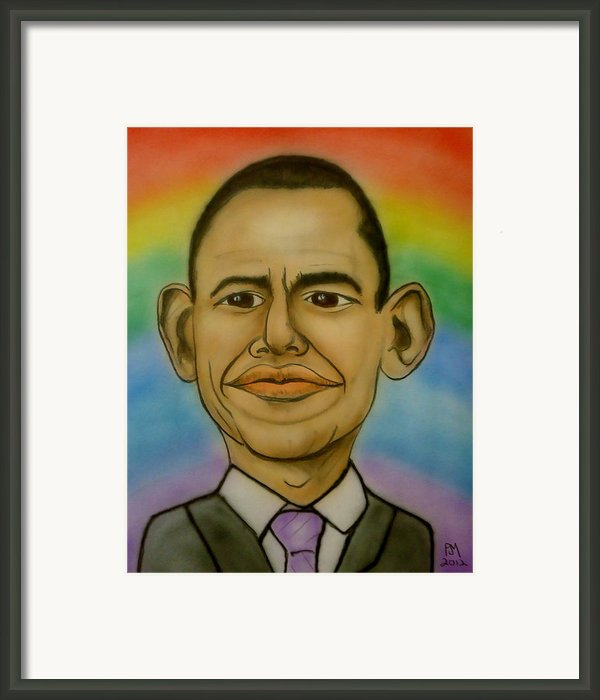 Obama Rainbow Framed Print By Pete Maier