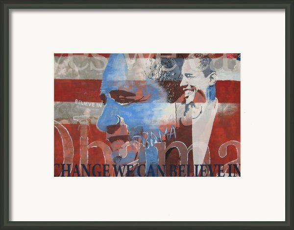 Obama Yes Framed Print By Xavier Carter