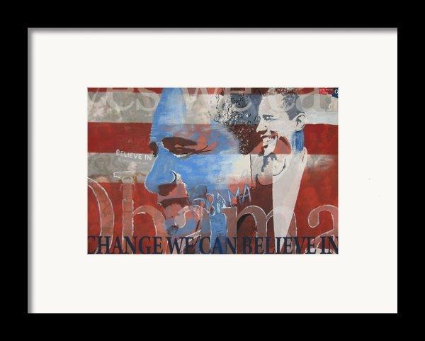 Obama Yes Framed Print By Xavier Carter