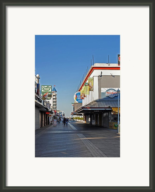 Oc Boardwalk Framed Print By Skip Willits
