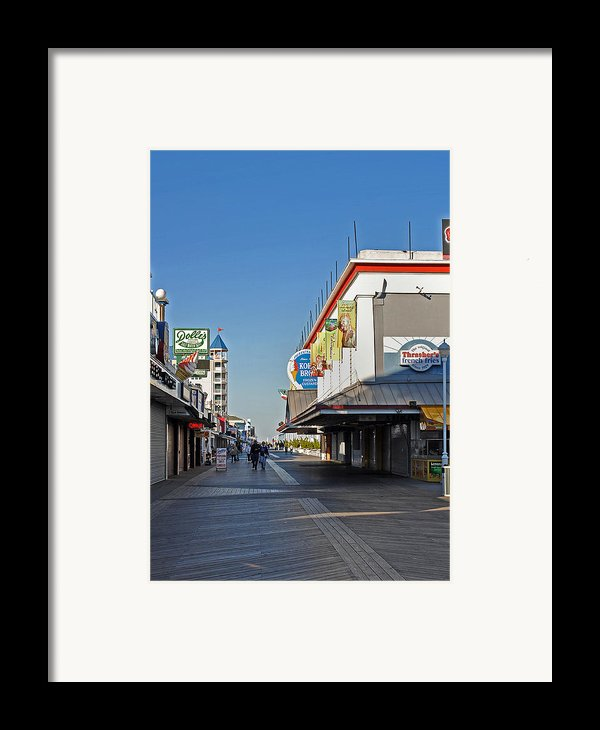 Oc Boardwalk Framed Print By Skip Willits