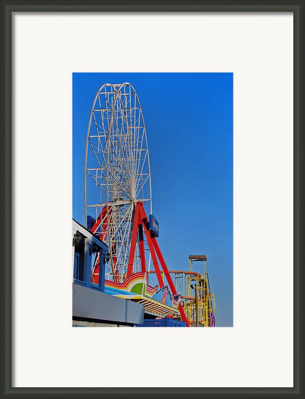 Oc Winter Ferris Wheel Framed Print By Skip Willits