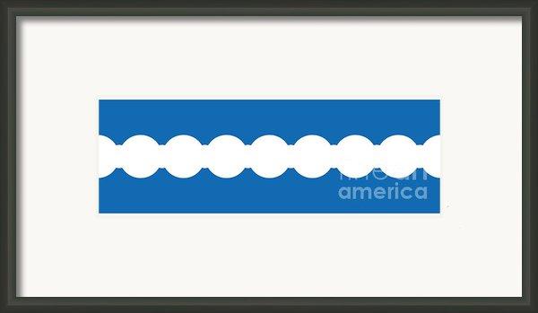 Ocean Blue Abstract Framed Print By Frank Tschakert